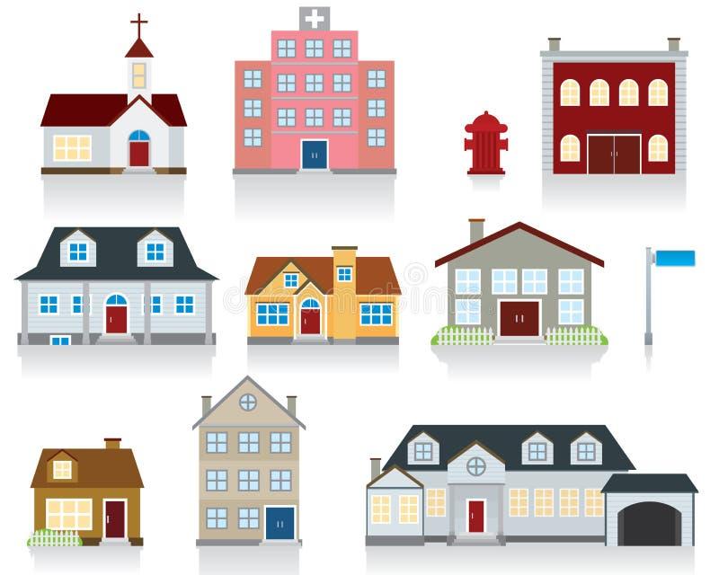 hussymbolsvektor stock illustrationer