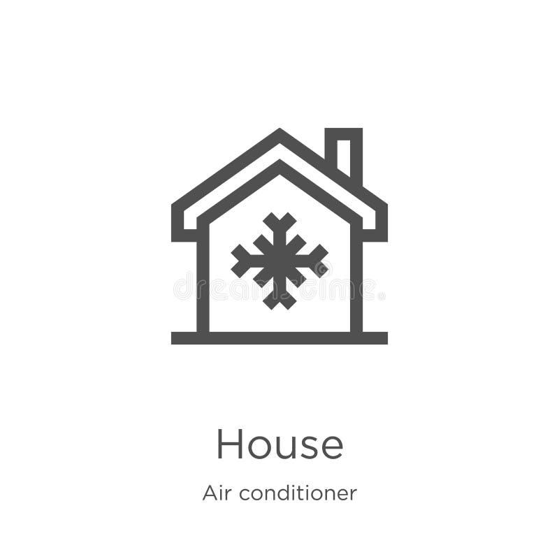 hussymbolsvektor från luftkonditioneringsapparatsamling Tunn linje illustration f?r vektor f?r hus?versiktssymbol ?versikt tunn l stock illustrationer