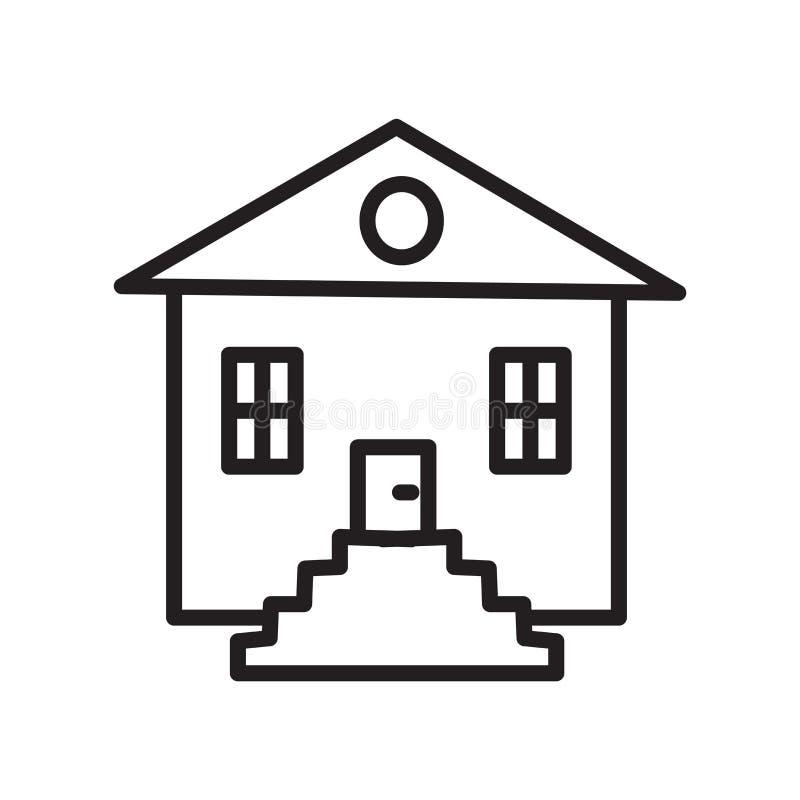 Hussymbolsvektor som isoleras på vit bakgrund, hustecken, linjärt symbol och slaglängddesignbeståndsdelar i översiktsstil royaltyfri illustrationer