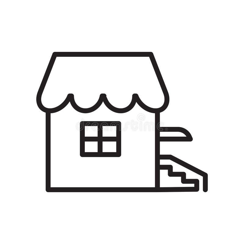Hussymbolsvektor som isoleras på vit bakgrund, hustecken, linjärt symbol och slaglängddesignbeståndsdelar i översiktsstil vektor illustrationer