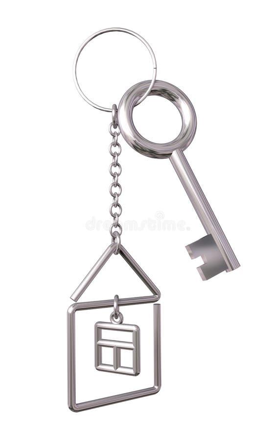 Hustangenter med keychain stock illustrationer