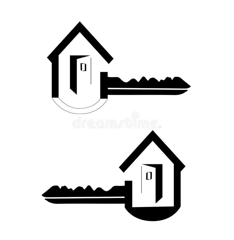 Hustangentlogo vektor illustrationer