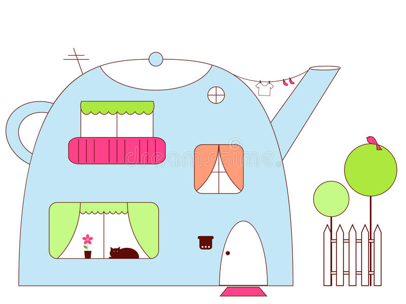 husteapot vektor illustrationer