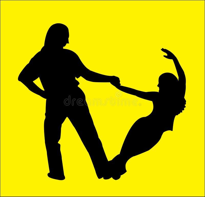 Download Hustle dancers stock illustration. Illustration of woman - 4690996
