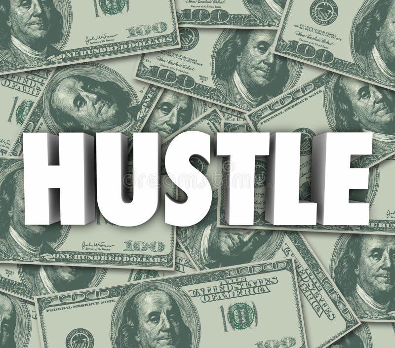 Hustle Make Money Word Sales Con Swindle stock illustration