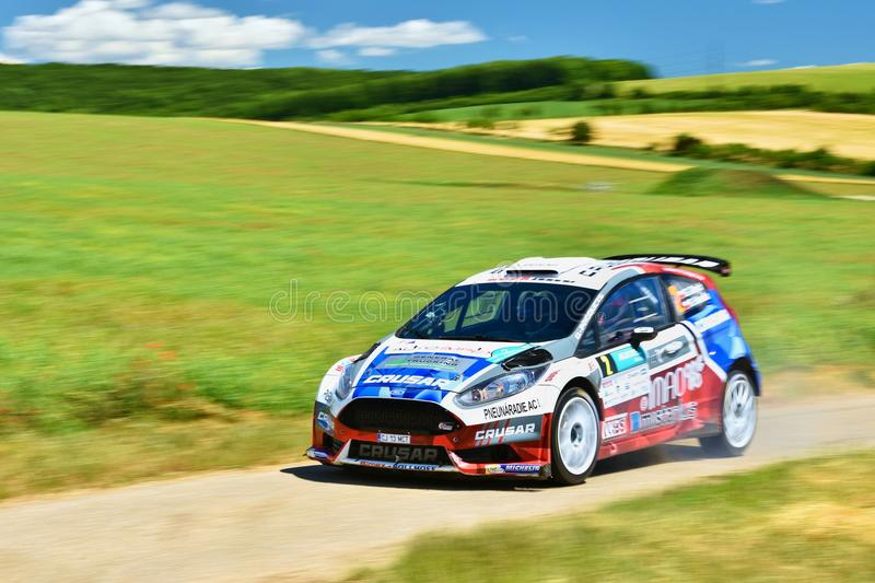 Hustopece, Czech Republic June 18, 2016. Rally car. Hustopeče.Czech Republic June 18.2016. Rally car. Race. Fast race car royalty free stock images