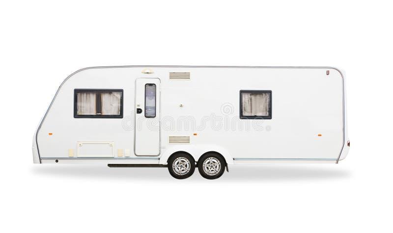 Husvagn som används som permanent hem arkivfoton