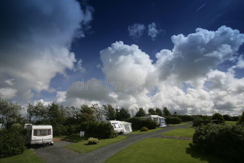 husvagnpark royaltyfria bilder