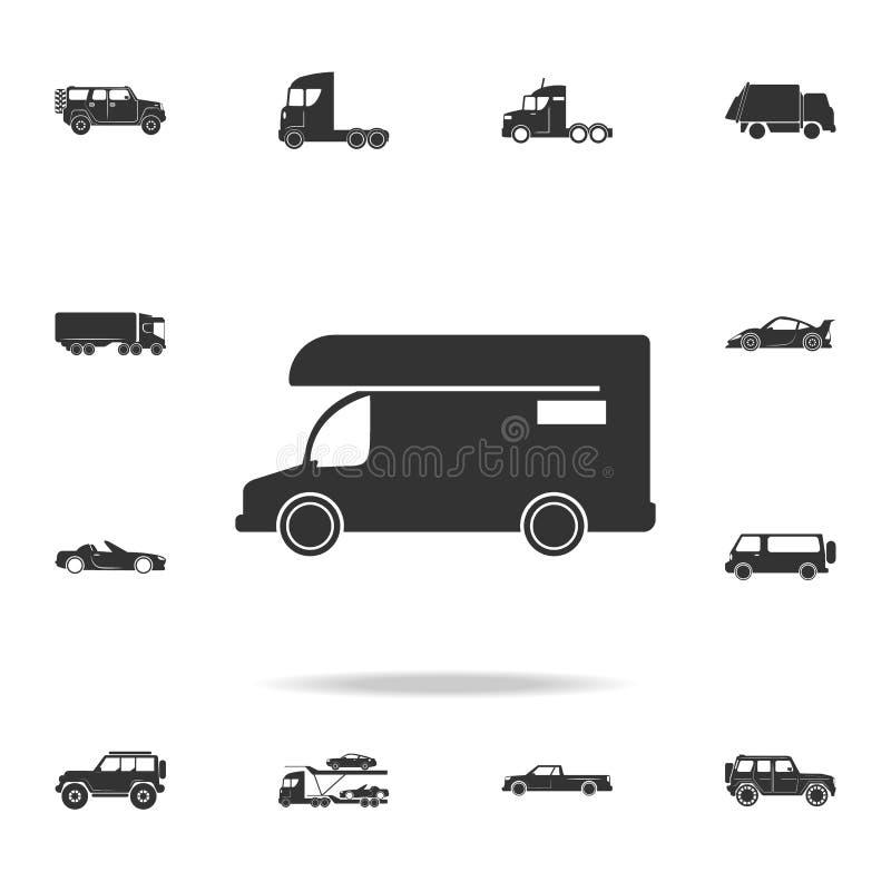 Husvagnsymbol Symbol för motoriskt hem Detaljerad uppsättning av transportsymboler Högvärdig kvalitets- grafisk design En av saml vektor illustrationer