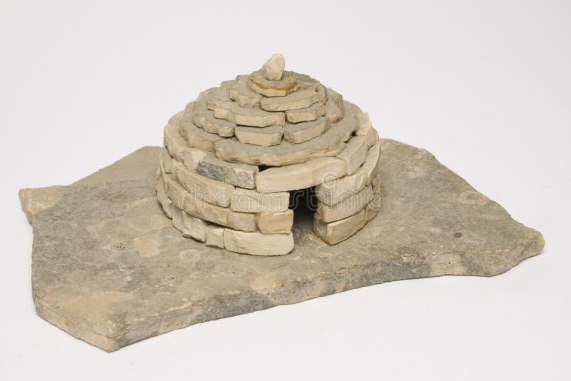 A Hut. A model of stone hut, bunja, from Croatia, Dalmatia, shelter in the field; original stone royalty free stock photography