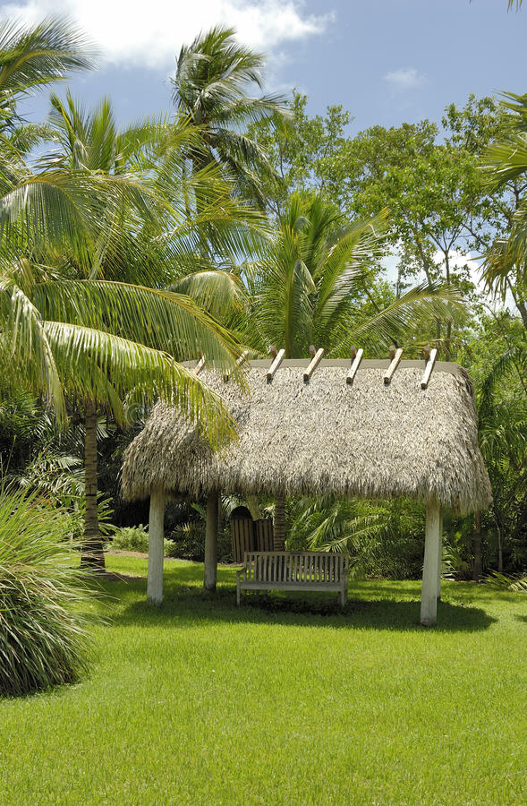 Free Hut And Palm Trees Stock Images - 11058094