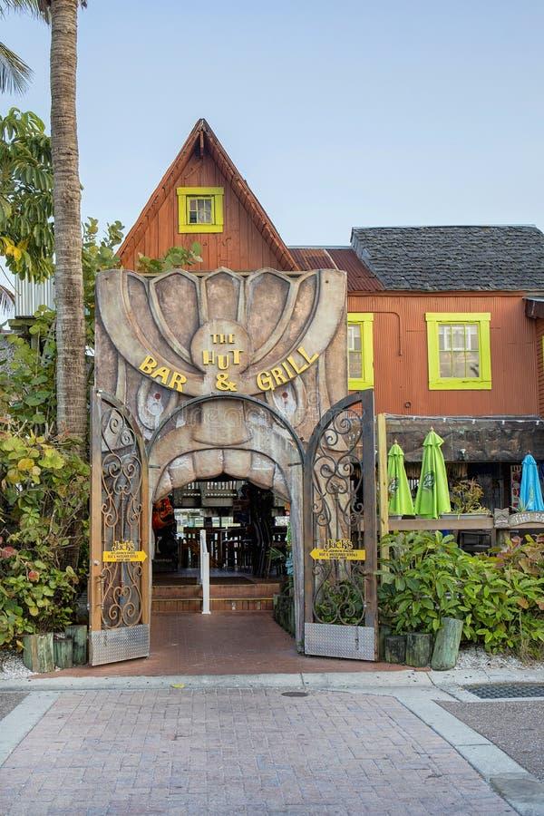 The Hut Bar & Grill, Madeira Beach stock photo