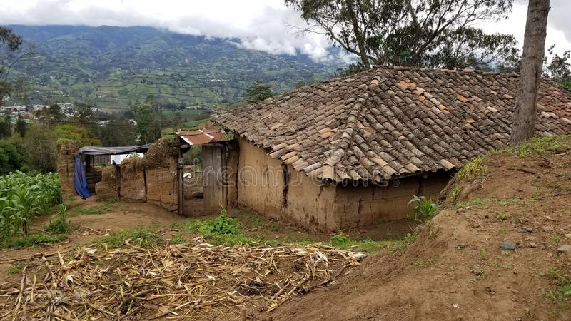 Hut in South America stock photos