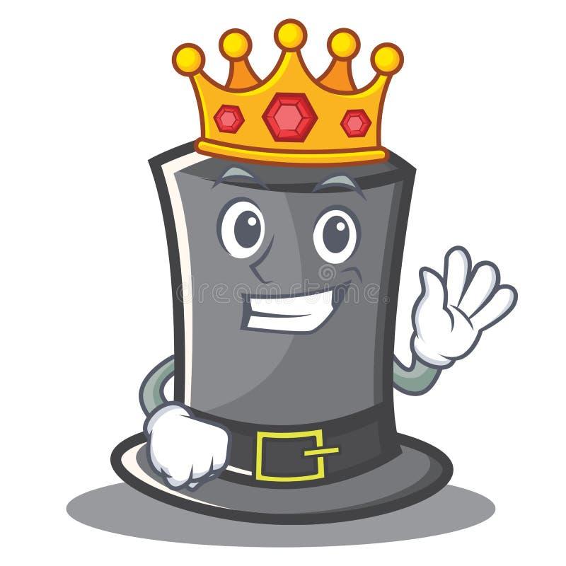 Hut-Charakterkarikatur Königs Thanksgiving lizenzfreie abbildung