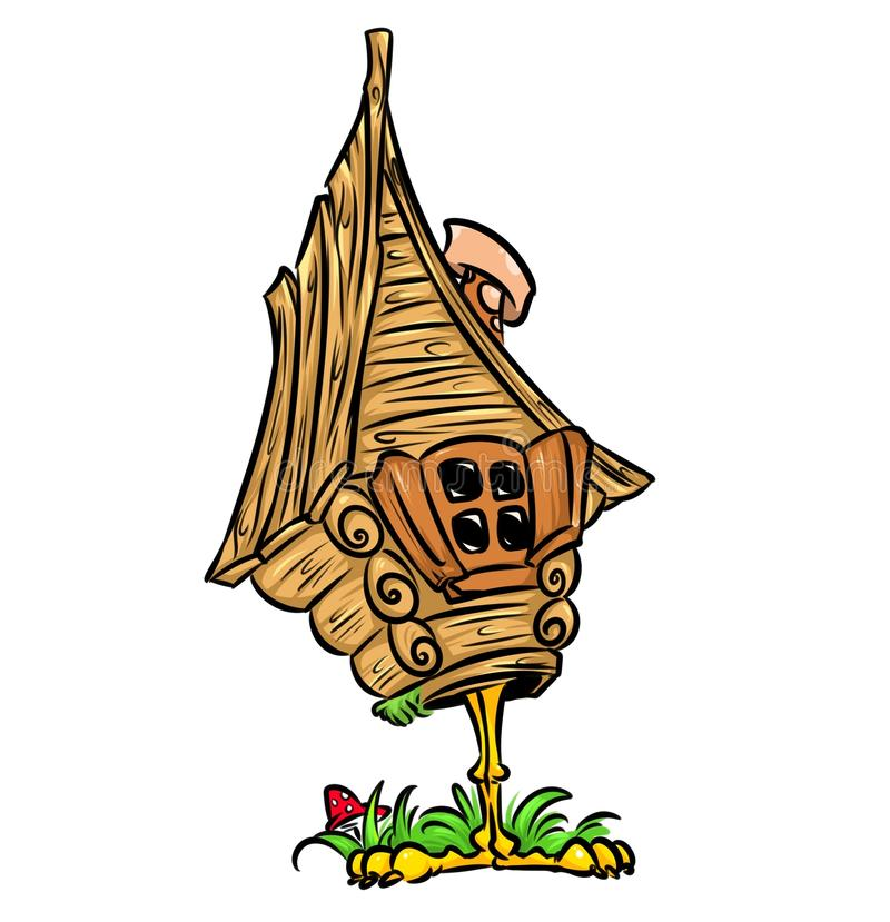 Hut chicken leg of Russian Fairy Tale. Isolated image royalty free illustration