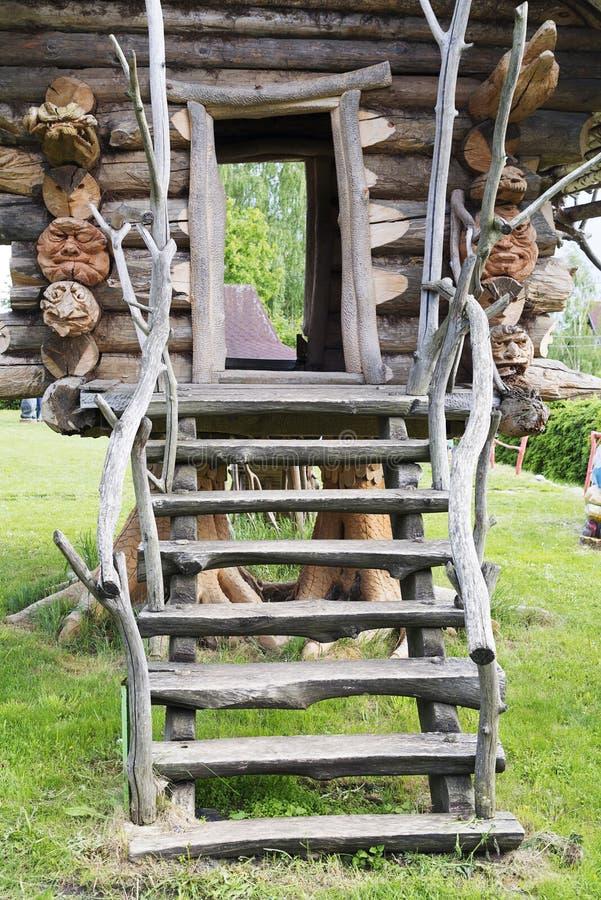 Hut on chicken legs, fabulous architecture. royalty free stock photos