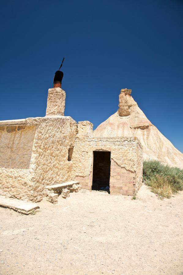 Hut At The Desert Royalty Free Stock Images