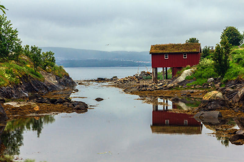 Download Hut of a fisherman. stock image. Image of beautiful, house - 32446515