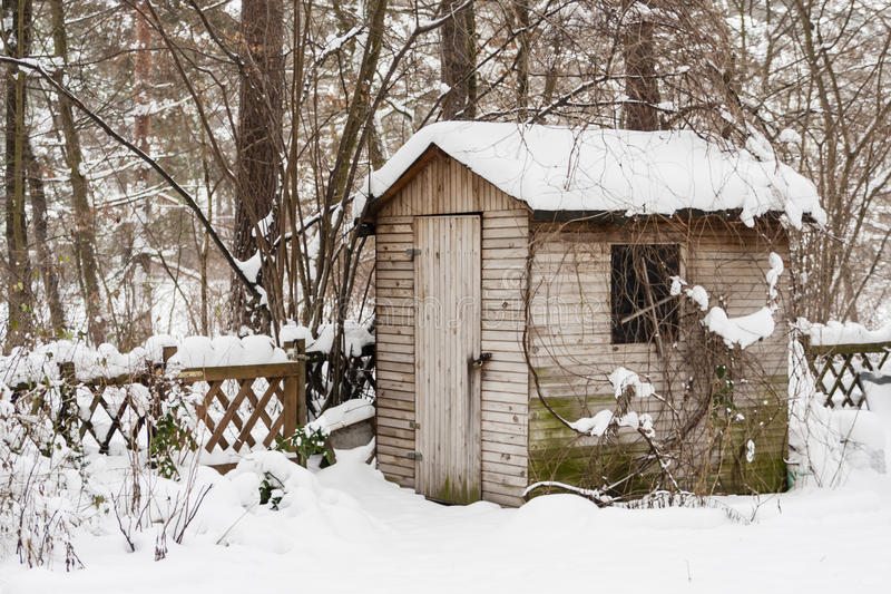 Download Hut in a garden in winter stock image. Image of covered - 40778699