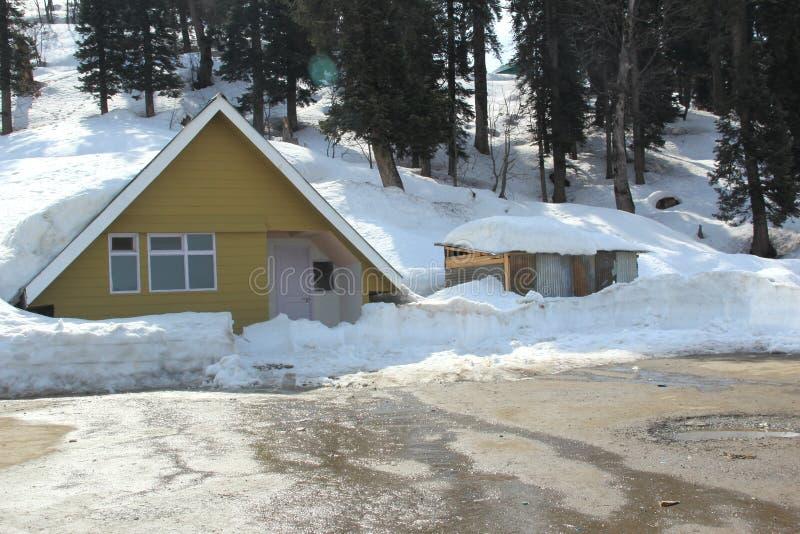 Hut In Gulmarg. stock photo