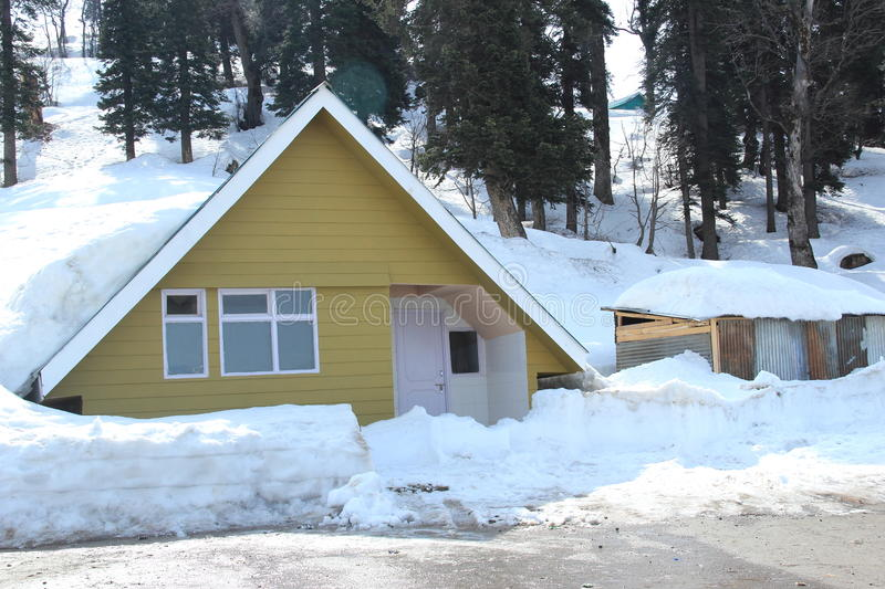 Hut In Gulmarg-1. royalty free stock photography
