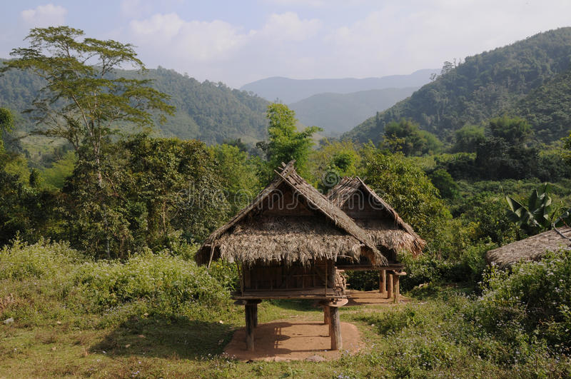 Hut in the hills royalty free stock photo