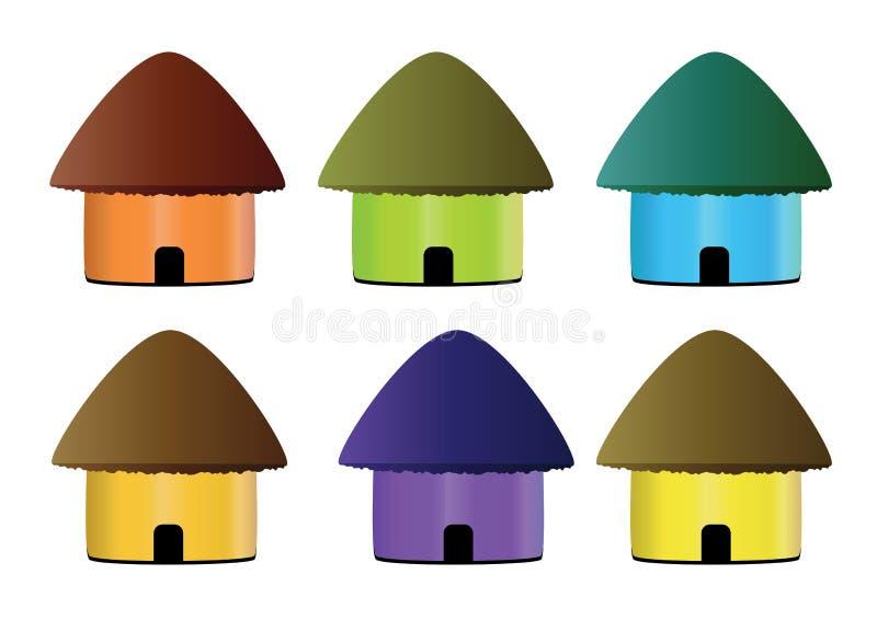 Hut icon. Multicolor hut icon in white background vector illustration