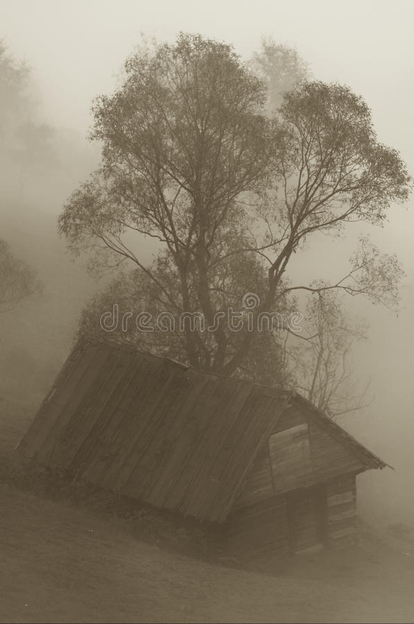 Free Hut In The Mist Stock Photography - 14826642