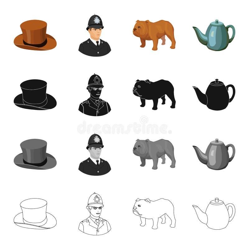 Hut Ist Ein Zylinder, Ein Polizist, Eine Englische Bulldogge, Ein ...
