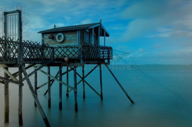 Hut on pier royalty free stock images