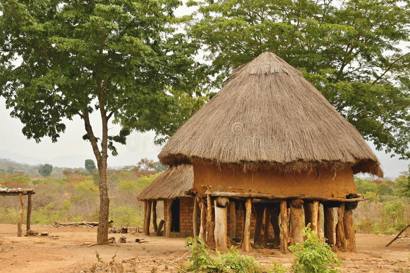 Hut of the poor natives, Mozambique. One hut of the poor natives, Mozambique stock image