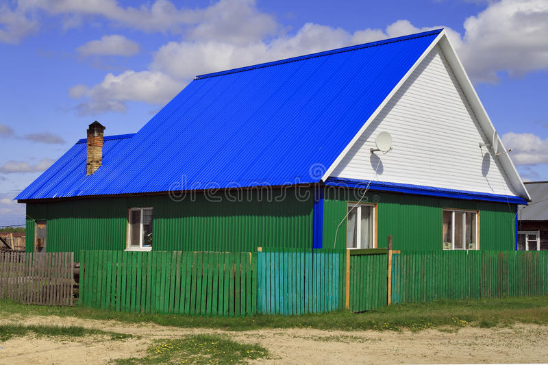 Hut In A Siberian Settlement Royalty Free Stock Photography