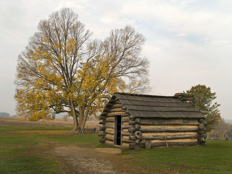 Hut, Valley Forge stock photo