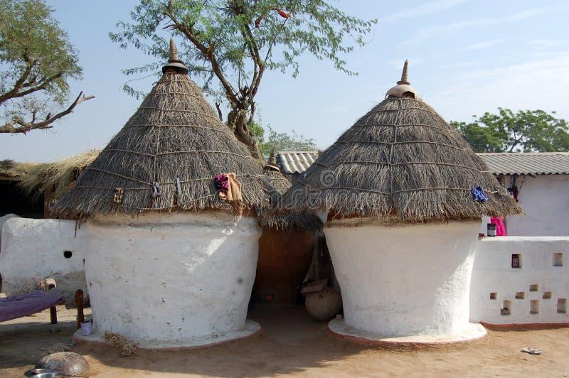 Hut van Indisch dorp royalty-vrije stock afbeelding