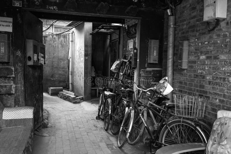 Hutong in de oude stad van Peking stock foto