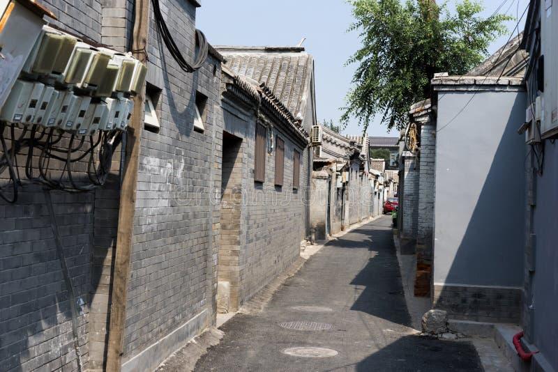 Hutong in de oude stad van Peking royalty-vrije stock afbeelding