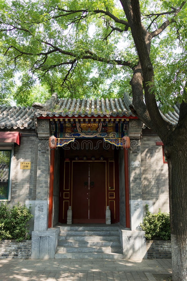 Hutong in de oude stad van Peking stock afbeeldingen