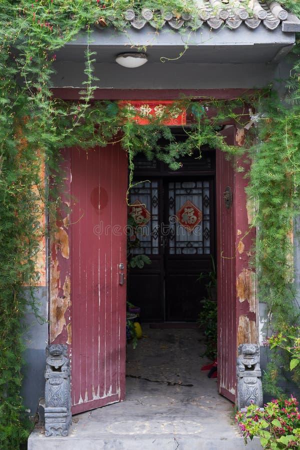 Hutong in de oude stad van Peking royalty-vrije stock foto
