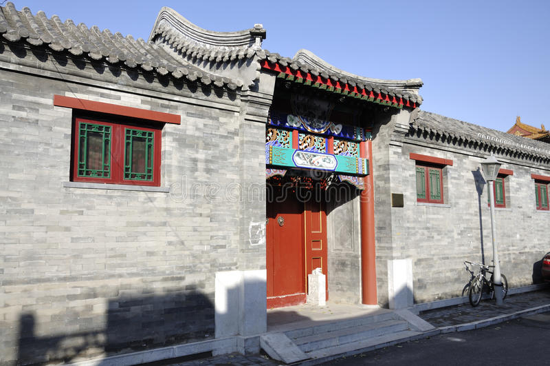 Hutong e allery em Beijing imagem de stock