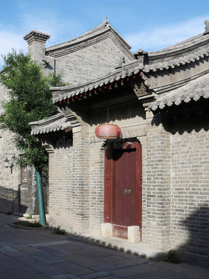 Hutong en allery in Peking royalty-vrije stock afbeeldingen