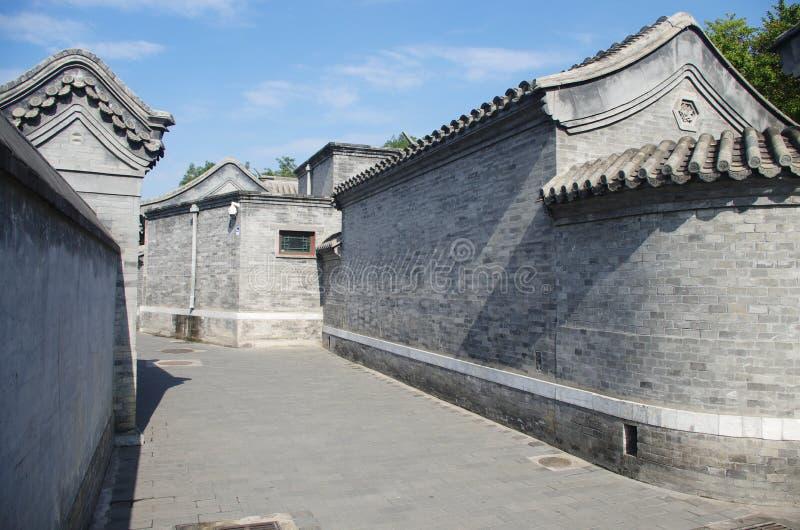 hutongl a Pechino fotografie stock