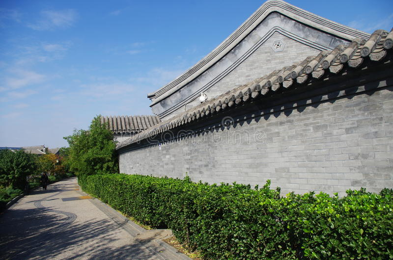 hutongl a Pechino fotografia stock