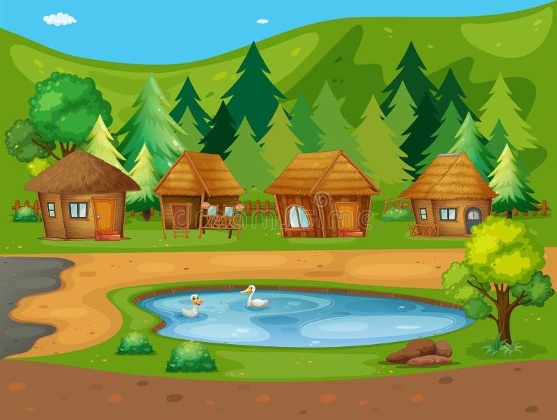 huts ilustração royalty free