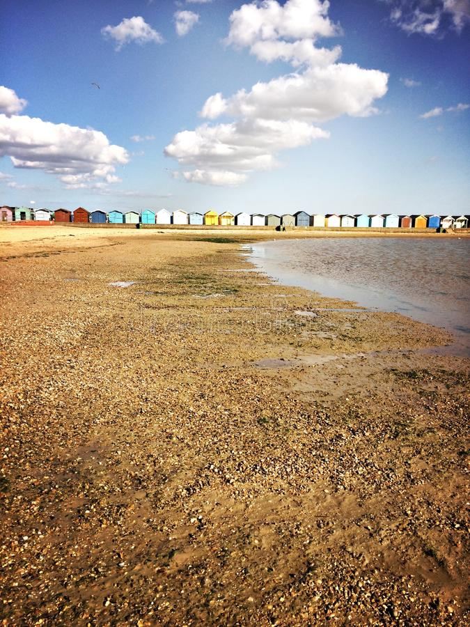 Download Huts Galore stock photo. Image of horizon, pebbled, beach - 90812572