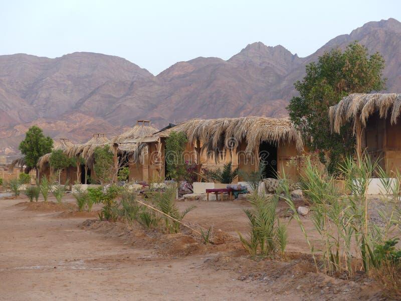 Huts at Nuweiba, Sinai stock image