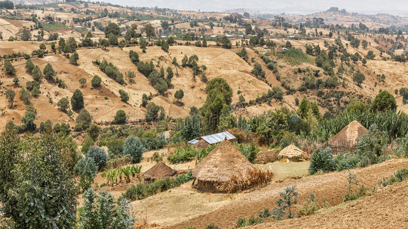 Download Village Huts On The Hills Stock Photos - Image: 30173523