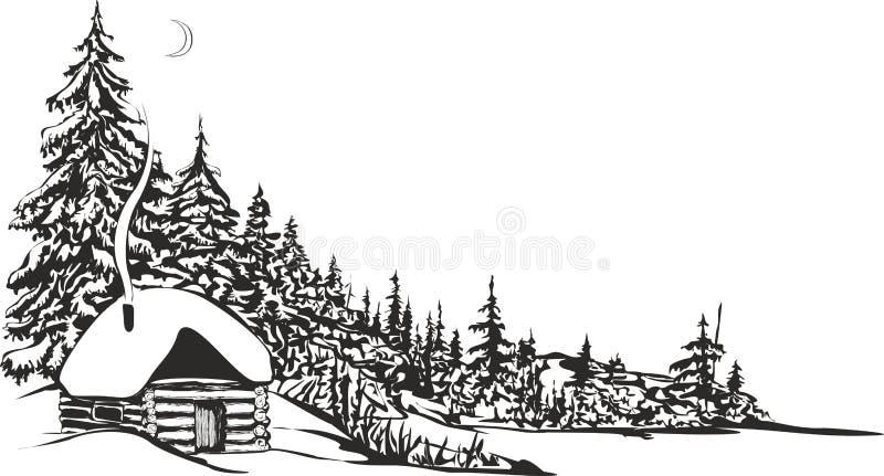 Hutte de chasse illustration de vecteur