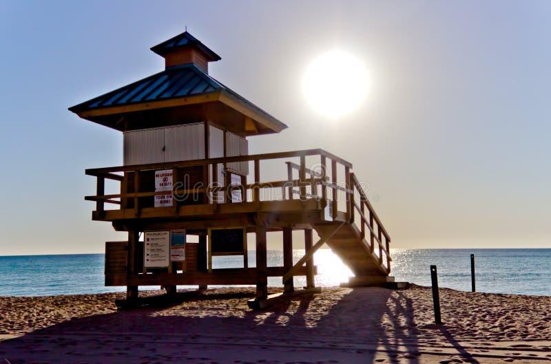 Hutte de maître nageur en Sunny Isles Beach, la Floride image stock