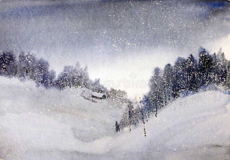 Hutte de neige dans les montagnes image stock