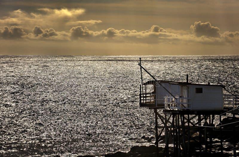 Hutte de pêcheur images stock